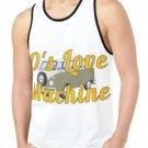 70's Love Machine Print Tank Top for Men - M T46