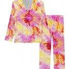 Pink Batik Women's Long Pajama Set