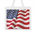Large U.S. Flag Canvas Tote Bag - M1702