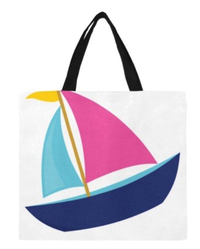 Sailboat Canvas Tote Bag - M1699
