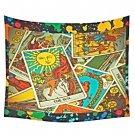 """Tarot Reader's Backdrop Cotton Linen Wall Tapestry 60""""x 51"""""""