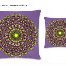 """Zhara Zippered Pillow Case 16""""x16""""/ Printed both sides"""