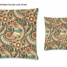 "Chic Interiors Zippered Pillow Case 16""x16""/ Printed both sides"