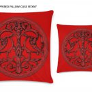 """Design Elements Zippered Pillow Case 16""""x16""""/ Printed both sides"""