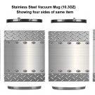 Metal Grate Metal Print Stainless Steel Vacuum Mug (10.3OZ)