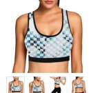 Blue Ice Cubes Women's Print Sports Bra