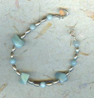 Amazonite & Sterling Silver Bracelet