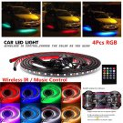 12V 8 Colors Music Control RGB LED Under Car Glow Underbody Neon Lights W Remote