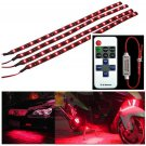 """Wireless Remote Control 12"""" 30CM Motorcycle Red LED Light Strip Kit For Suzuki"""