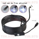 Vehicle Inspection Camera endoscope 7mm Lens Snake Borescope For Android Phone