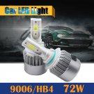 72w 7200LM COB 9006 HB4 Car LED Headlight Bulb 6000K White Light Conversion Kit