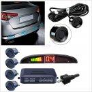 Autos 4 Sensors Buzzer Radar LED Display Audio Alarm Reverse Parking Parktronic