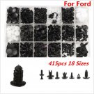 415pcs 18 Sizes Interior Door Trim Plastic Panel Retainers Clips for Ford