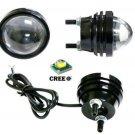 2Pc 15W Car Cree 10W LED Projector Lens Light Fish lamp Eagle Eye SUV Fog bulb