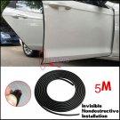 16FT Black Moulding Trim Rubber Strip Autos Door Scratch Protector Edge Guard 5M