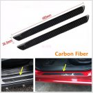 "2 Pcs 19"" Real Carbon Fiber Car Scuff Plate Door Sill Cover Panel Step Protecors"