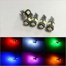 10X CANBUS ERROR FREE Green T10 5SMD 5050 LED Interior Light Bulbs 194 168 12V