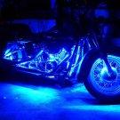 8Pcs 12V 3258 15 LED 30cm Car Vehicle Flexible Waterproof Strip Light Blue