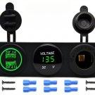 Universal Car SUV Boat Dual USB Charger Voltmeter 12V Power Outlet Socket Panel