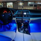 New 3M 12V Blue LED Light Glow EL Wire String Strip Rope Tube Car Interior Decor