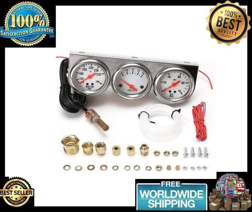 Universal 2.27 Inch Gauge Water Temp Voltage Oil Pressure Complete SET