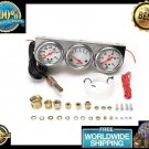 Universal 2.27 Inch Gauge Water Temp Voltage Oil Pressure Complete SET