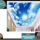 Ceiling Wall  Mural Wallpaper 3D Decoration Stereo Blue Sky Custom Large Photo
