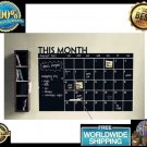 DIY Monthly Chalkboard Calendar Vinyl Wall Decal Removable Planner Sticker