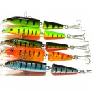 5Pack Multi Jointed Minnow Fishing Lure Hard Bass Bait Swimbait for Bass & Trout
