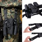 Tactical Right Hand Paddle & Leg Belt Hard Drop Leg Holster for Glock 17