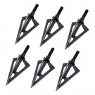 3 Fixed Blade Broadhead for Recurve Compound Bow Hunting, 100 Grain Pack of 6