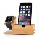 Bamboo Charger Charging Dock Station Holder Stand For Apple Watch iWatch iPhone
