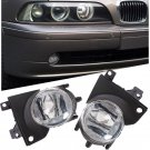 PAIR FOR 2001-2003 BMW E39 OEM FRONT BUMPER REPLACEMENT CLEAR FOG LIGHTS LAMPS