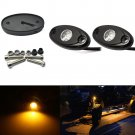 "2PCS 2"" Yellow CREE LED Rock Light JEEP Wrangler Off-Road Under Wheel Rig Light"