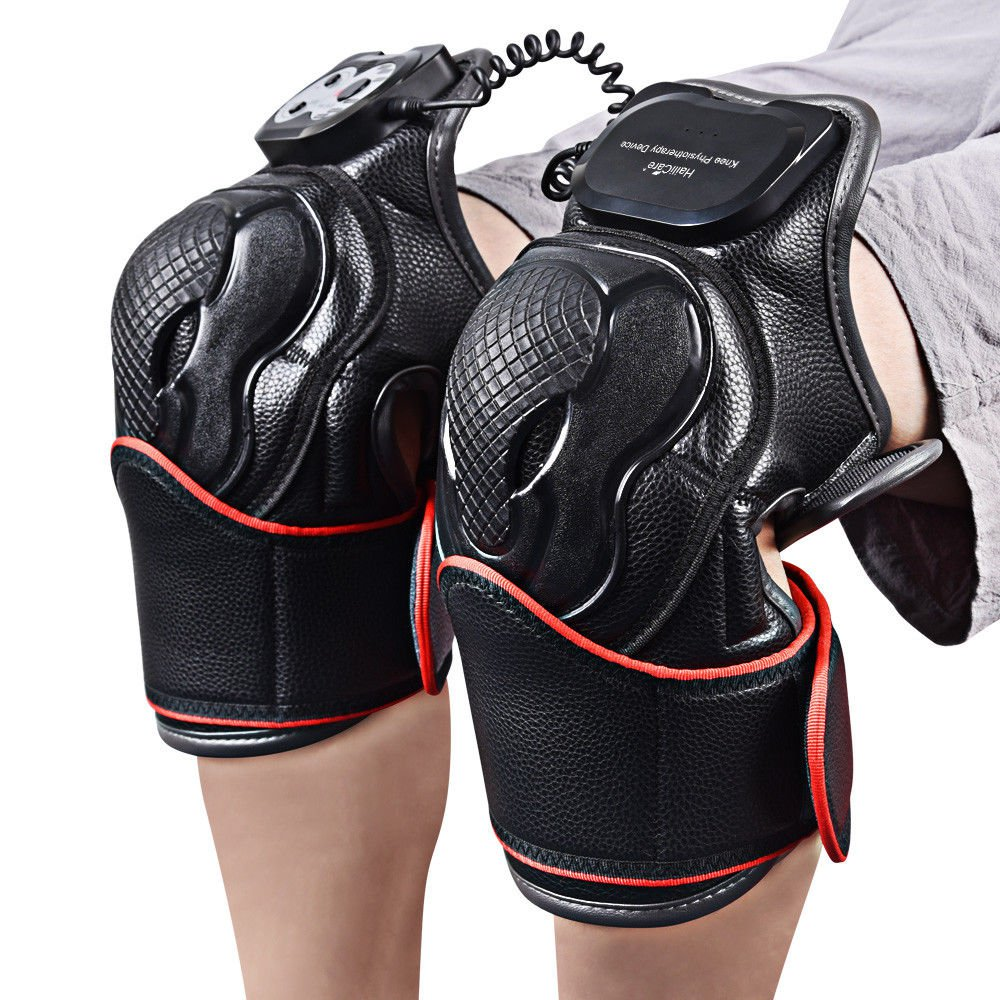 Knee Joint Pain Relief Massager Arthritis Physiotherapy Heat Vibration Brace US