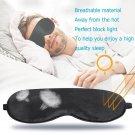 Natural Silk Sleeping Eye Mask Adjustable Eye Shade Cover Soft Mask Blindfold