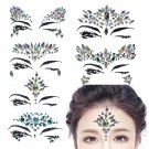5 Sets Face Gems Adhesive Festival Jewels Crystals Rhinestone Tattoo Face Rocks