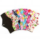 "Reusable Bamboo Charcoal Cloth Washable Menstrual Pad Mama Sanitary 7"" 10"" 12"""