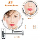 7X/5X Magnifying Wall Mount Makeup Mirror Chrome Vanity Bathroom Cosmetic Mirror