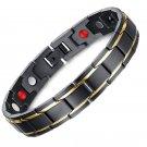 4in1 TITANIUM Bio Magnetic Energy Germanium Men Wrist Power Healthy Bracelet