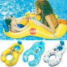 Infant Baby Kids Float & Adult Seat Inflatable Swim Swimming Ring Pool Water Fun