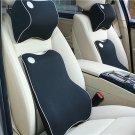 Universal Auto Car Memory Foam Lumbar Neck Cushion Pillows Seat Set Comfortable