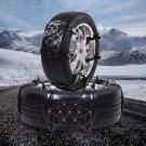 6pc Black 165-275mm Car Anti-Snow Anti-Skid Tire Chains Emergency Thickening Set