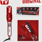 ORIGINAL! Kemei, Nano Silver Steam Hair Straightener Red (FULL KIT)- Free Ship