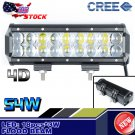 9Inch 4D 54W CREE Led Flood Work Driving Light Bar Offroad 12V 4WD Truck Atv Ute