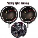 """Pair 4.5"""" LED Fog Light Passing Lights Housing For Harley Motorcycle"""