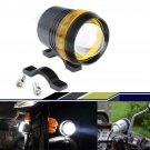30W Cree U3 LED 12V Motorcycle Headlight Yellow Angel Eye Driving Fog Spot
