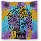 Elephant printing tapestry Hippie Beach Towel Yoga Home Decor Blankets Mat India