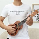 Zebra 21 inch 15 Frets Soprano Ukulele Uke 4 Nylon Strings Guitar Dolphin Patter