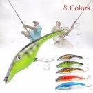 14cm Fish Minnow Bass Lure Fishing Lures Wobbler Crankbait Trout Tackle Hook